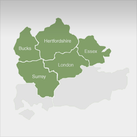 We work within London, Surrey & The Home Counties